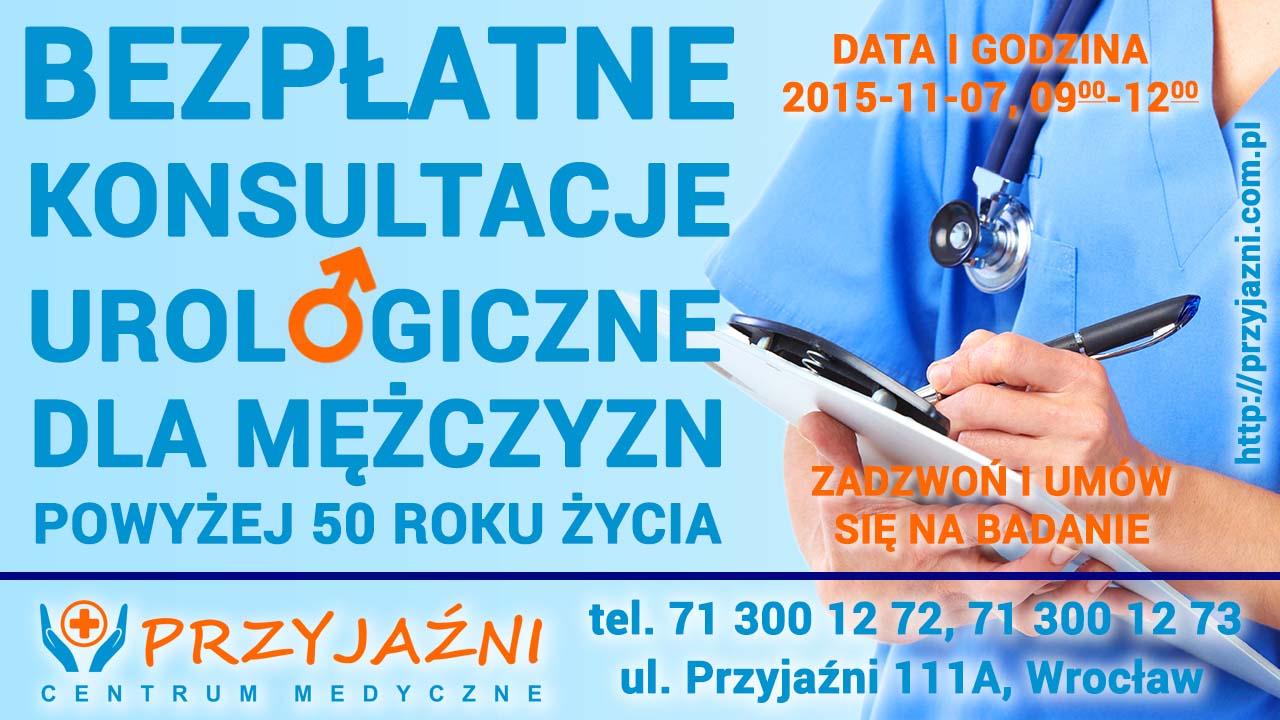 Bezpłatne badania prostaty dla meżczyzn w wieku 50+. Przychodnia we Wrocławiu. Centrum Medyczne PRZYJAŹNI