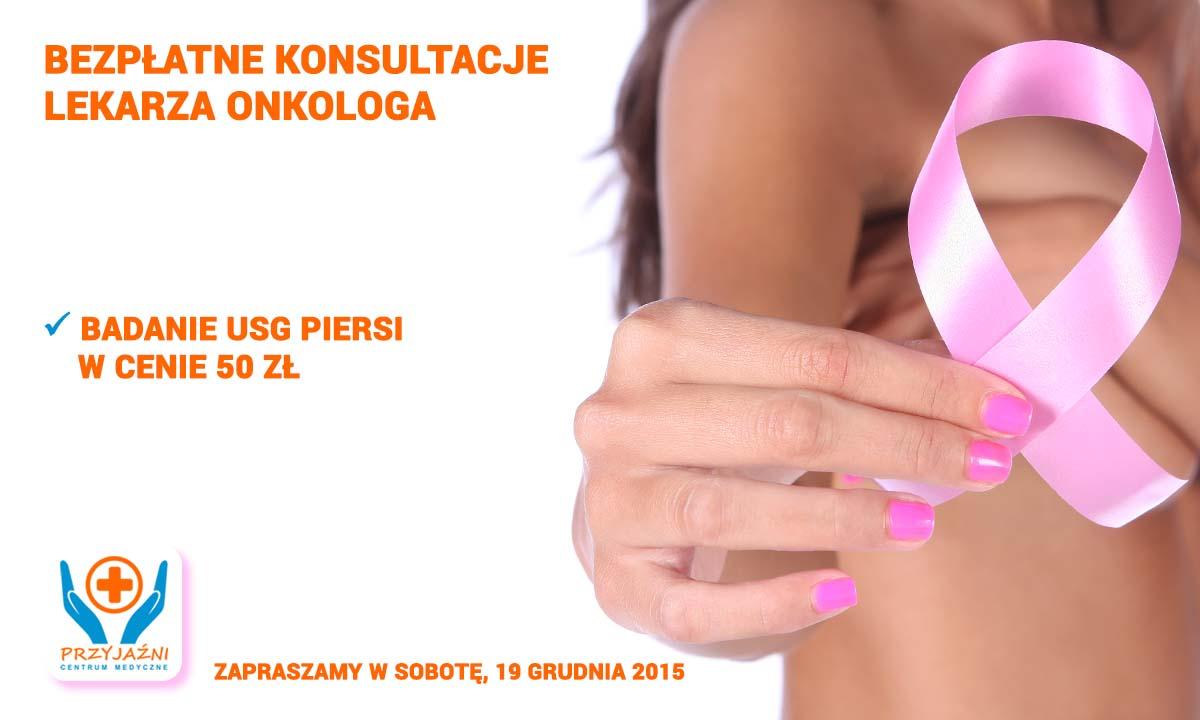 Bezpłatne konsultacje lekarza onkologa. Badanie USG piersi