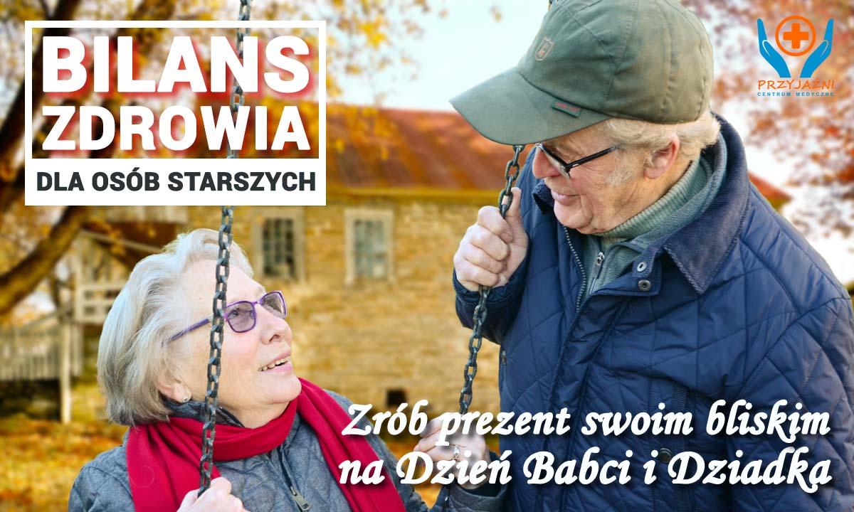 Bilans zdrowia dla osób starszych. Prezent z okazji dnia Babci i Dziadka. Przychodnia we Wrocławiu. Centrum Medyczne PRZYJAŹNI