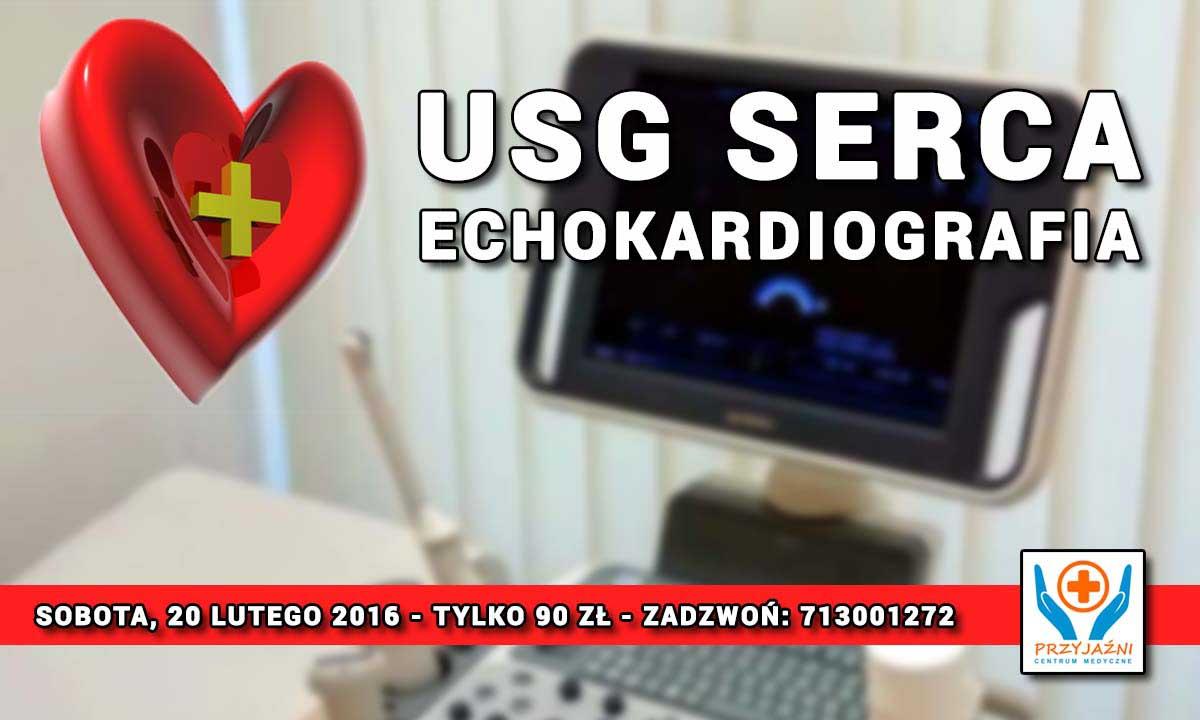 USG serca - echokardiografia. Przychodnia we Wrocławiu. Centrum Medyczne PRZYJAŹNI