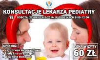 Konsultacje lekarza pediatry