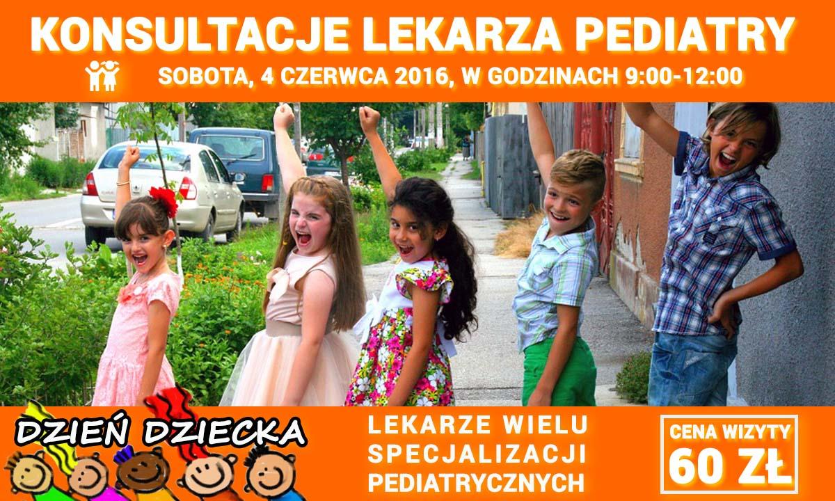 Konsultacje lekarza pediatry. Pediatra Wrocław, DzieńDziecka 2016. Przychodnia Wrocław. Centrum Medyczne PRZYJAŹNI