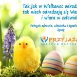 Życzenia Wielkanocne 2017. Lekarze Wrocław. Przychodnia Wrocław. Centrum Medyczne PRZYJAŹNI
