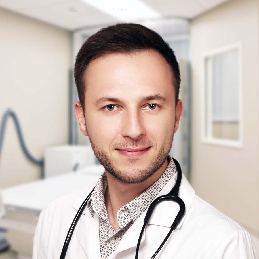 Lek. Maciej Bladowski. Internista Wrocław. Także EKG, USG i terapia manualna. Przychodnia Wrocław. Centrum Medyczne PRZYJAŹNI