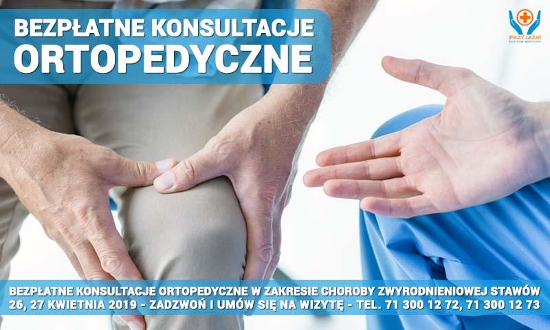 BEZPŁATNE konsultacje ortopedyczne w zakresie zwyrodnienia stawów